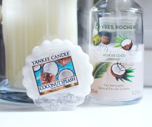 candle, coconut, and white image