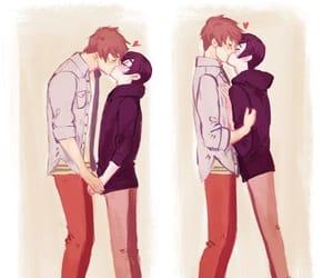 yaoi, kiss, and gay image