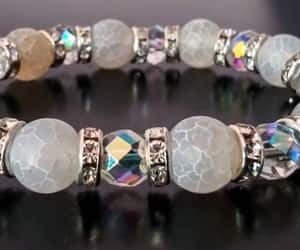 bling, peace, and crystal bracelet image