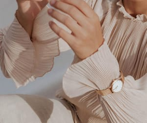 pleats, romantic, and watch image