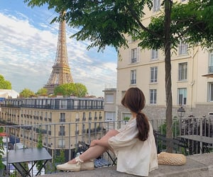 eiffel tower, travel, and france image