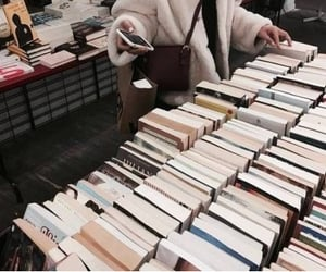 books, girl, and reader image