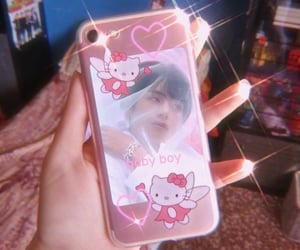 edit, taehyung, and hello kitty image