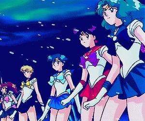 anime, sailor neptune, and sailor uranus image