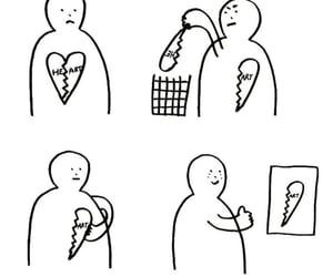 breakup, broken, and drawings image