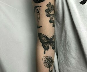 beauty, arm tattoos, and body art image
