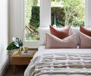 bed, bedroom decor, and home image