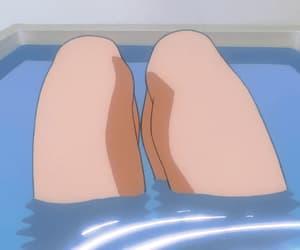aesthetic, anime, and bath image