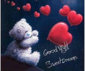 good night, night, and hearts image