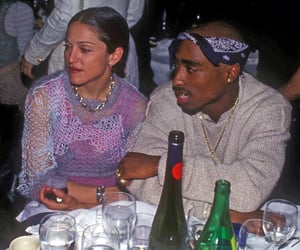 2pac, necklace, and 90s image