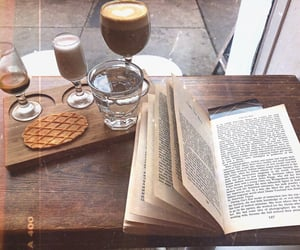 beautiful, book, and caffeine image
