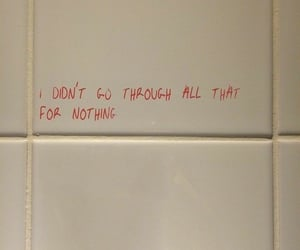 bathroom, hard, and quotes image