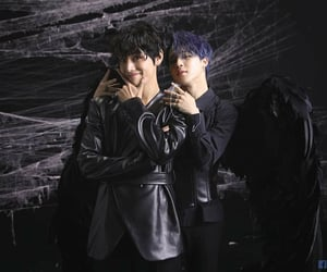 black swan, hot boys, and purple hair image