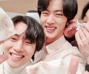 army, jin, and taehyung image