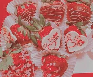 be mine, berries, and chocolate image