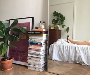 plants, books, and room image