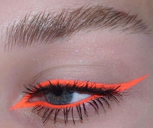 makeup, eyes, and orange image
