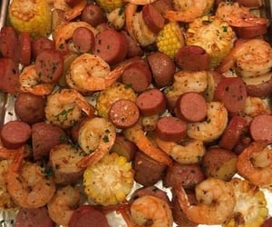 food, seafood boil, and snack image