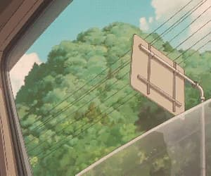 aesthetic, ghibli, and green image