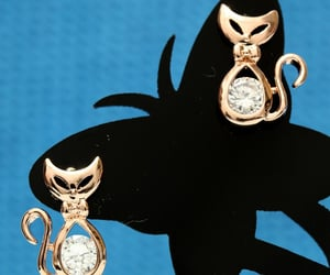 rose gold earrings, for girls girlfriend, and hkzoemall zoemall jewelry image