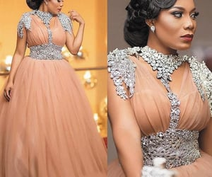 robe de soirée, elegant prom dress, and dusty pink prom dress image
