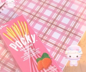 aesthetic, pink, and pocky image