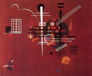 art, burgundy, and kandinsky image