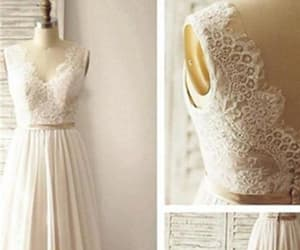 lace, a-line, and simple long chiffon image