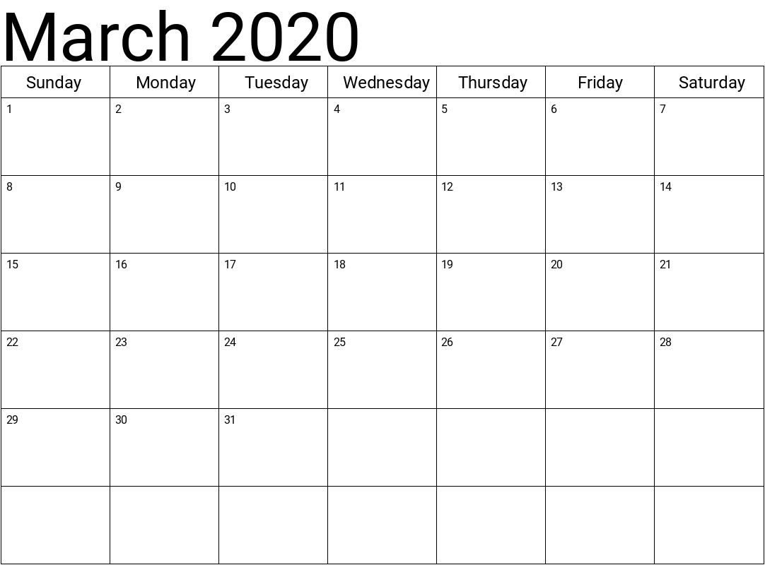 article, 2020calendartemplate, and printablemarch2020 image