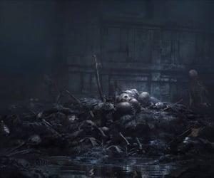 battle, skeleton, and underground image
