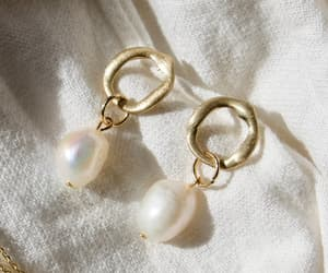 pearls, gold hoop, and brie leon jewelry image