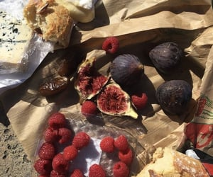 baguette, beach, and fig image