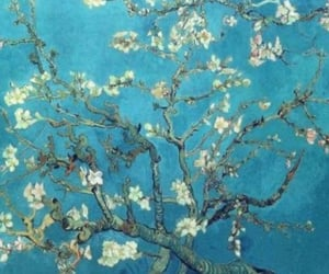 almond blossom, blue, and painting image