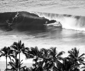 beauty, blackandwhite, and surf image