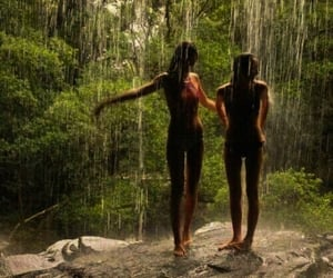 best friends, tropical, and travel image