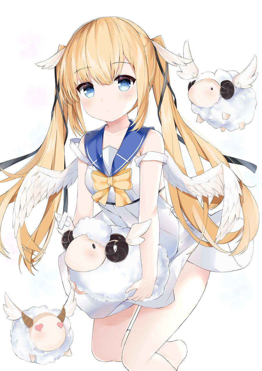 anime, 制服, and 天使 image