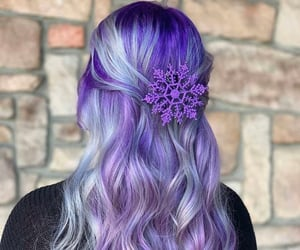 beautiful, girl, and purple image