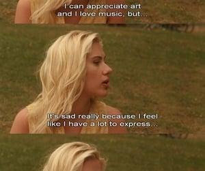 feelings, life, and Scarlett Johansson image
