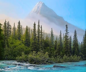 canada, river, and mountain image