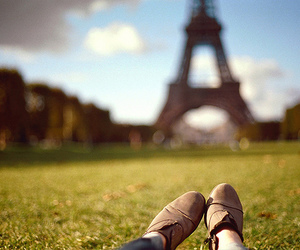 paris, shoes, and eiffel tower image