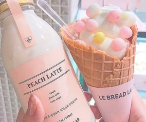 aesthetic, pink, and food image