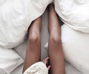 bed, legs, and cozy image