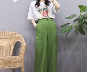 asian, fashion, and green image
