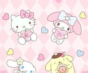 hello kitty, kawaii, and my melody image
