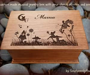 etsy, fairy, and wooden music box image