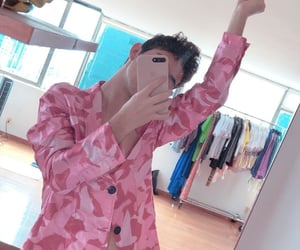 boy, fashion, and pink day image