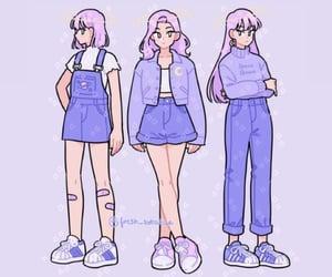 anime girl, girl, and pastel image