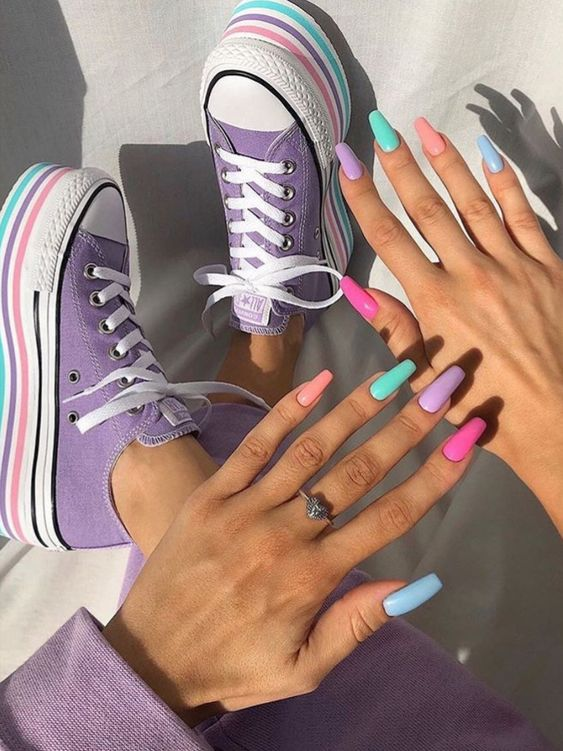 nails, style, and shoes image