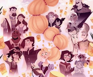 art, disney, and rapunzel image