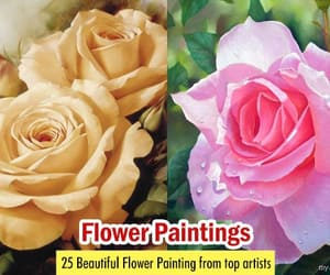 acrylic paintings, art, and flower paintings image